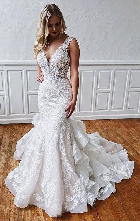 Wedding Dresses Mermaid.Mermaid Lace Wedding Dress Mermaid Open Back Wedding Dress From Sancta Sophia