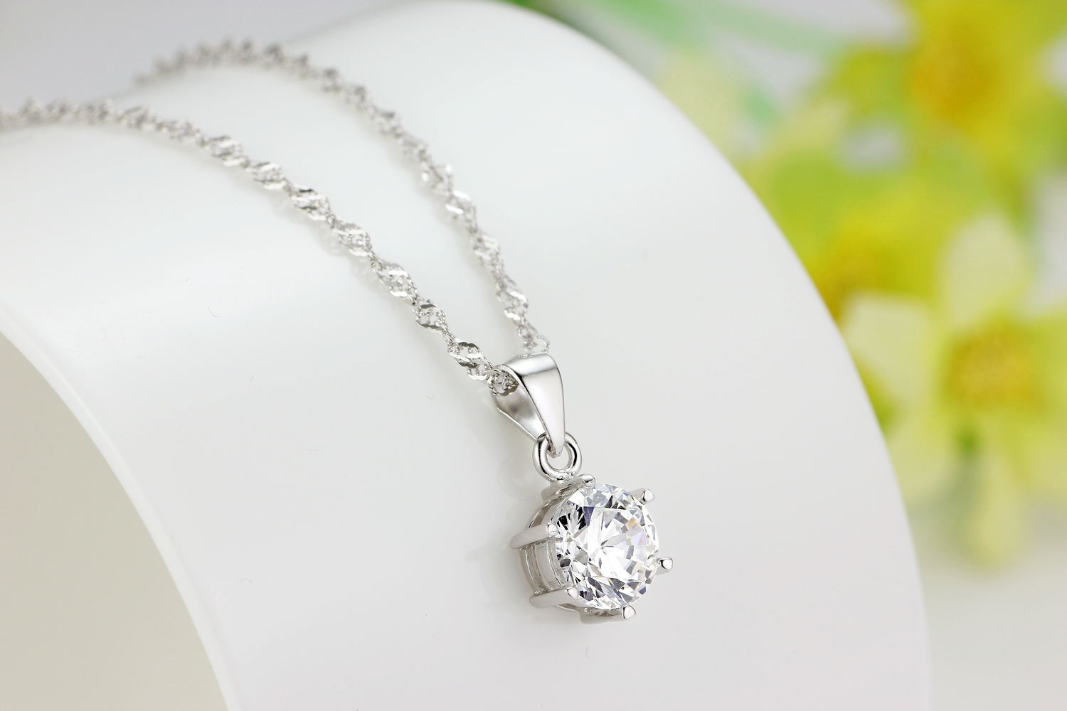 Sterling 925 silver love pendant necklace jewelry set with cubic 2 small aloadofball Image collections