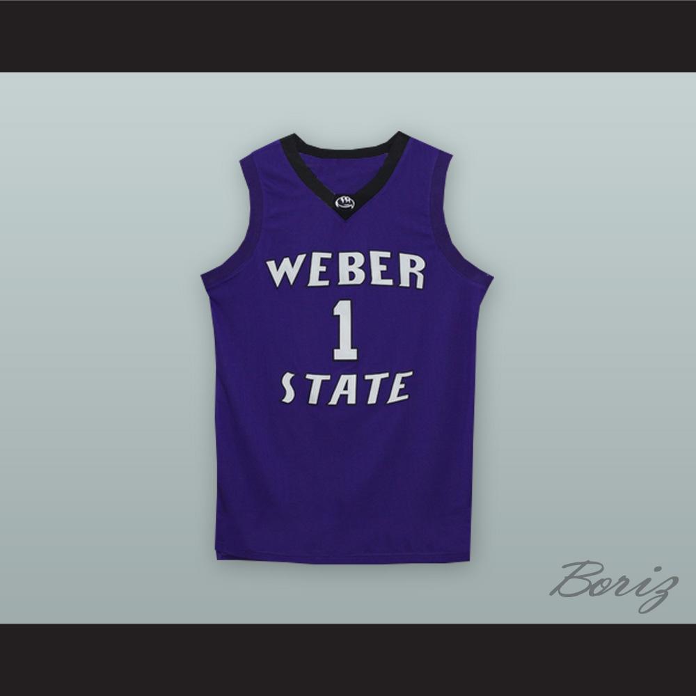 hot sale online 24fb7 49265 Damian Lillard 1 Weber State Purple Basketball Jersey