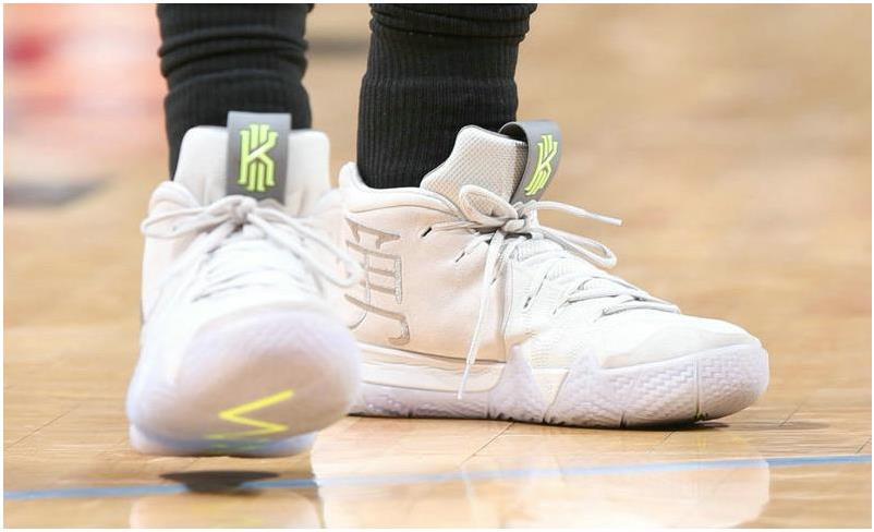 buy popular b791d fe799 Nike Kyrie 4 White Volt Basketball Shoe from BELLDRESS