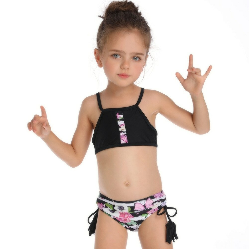 5a2e0d04ac691 Fashion Floral Print Bikini Girl I Summer Bathing Suit 2PCS I Halter ...
