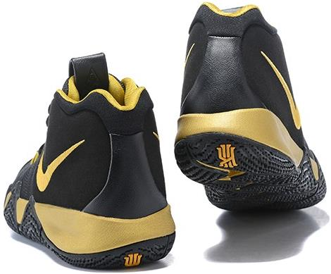 timeless design 64c90 a8749 2018 Nike Kyrie 4 Black Gold Basketball Shoes from BELLDRESS