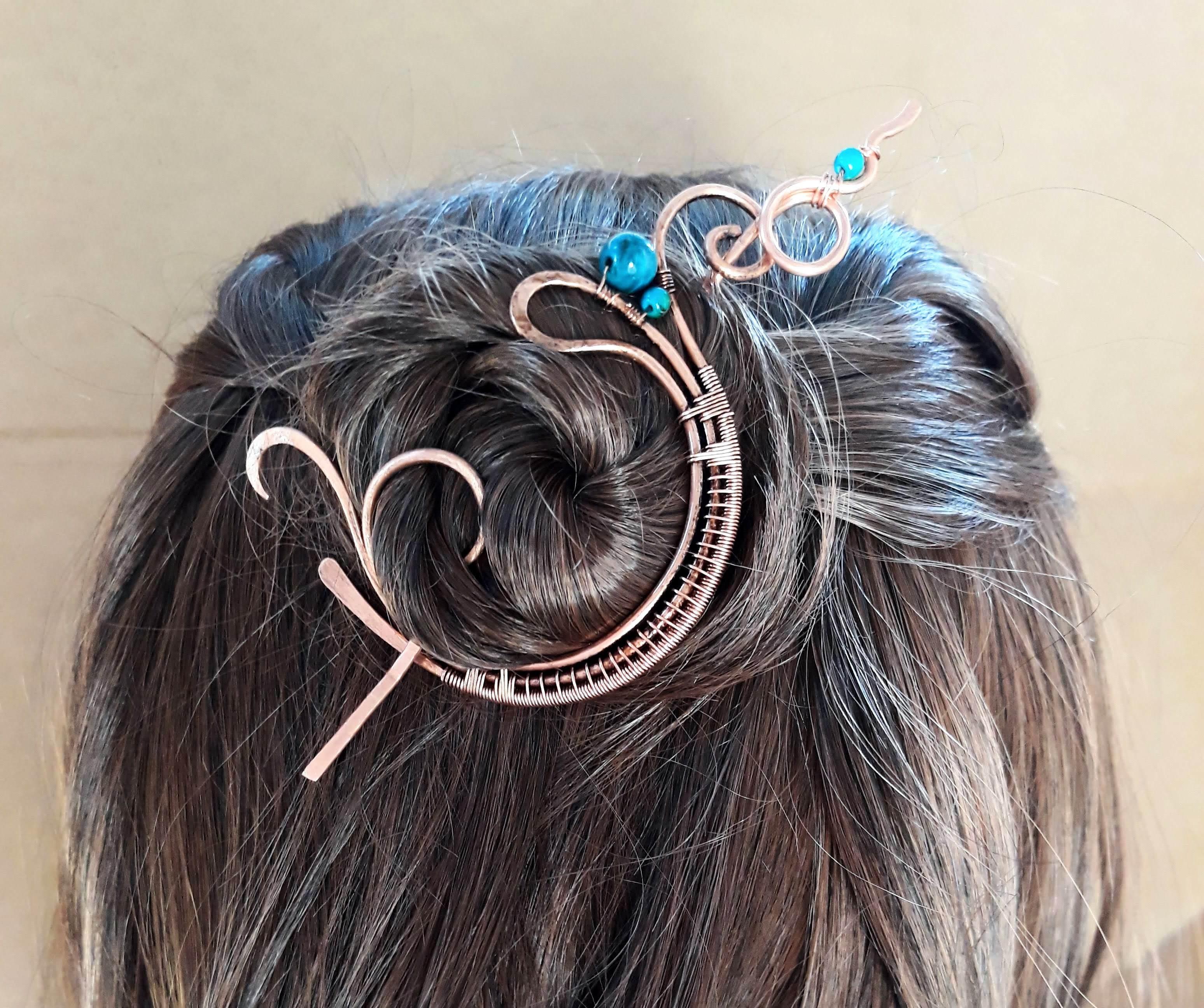 boho hair clip