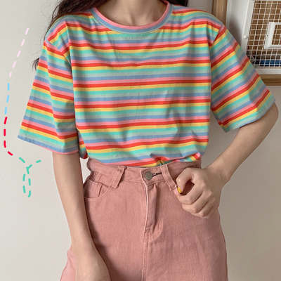 ee40b698 Rainbow Stripe Shirt (4 Colors) · Megoosta Fashion · Free shipping  worldwide on all orders