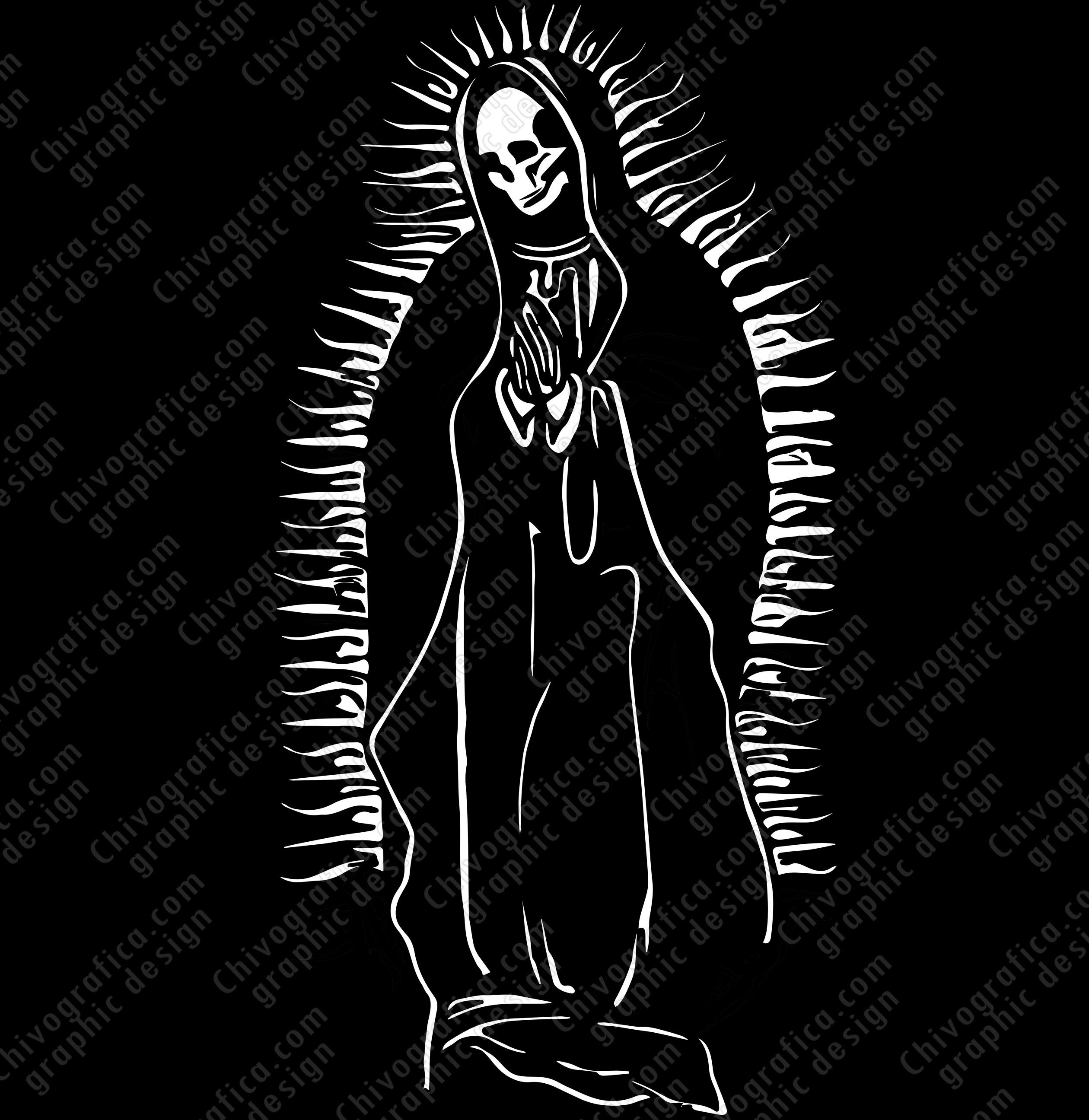 Nuestra Se 241 Ora De La Santa Muerte Vinyl Decal Sticker On
