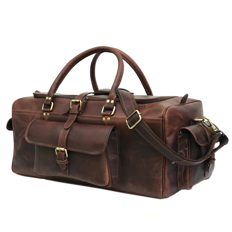 59a817d99 Zakara Genuine Buffalo Hunter Dark Brown Leather Weekend Bag, Leather  Travel Bag, Mens Duffle Bag, Leather Overnight Weekender, Gift on Storenvy