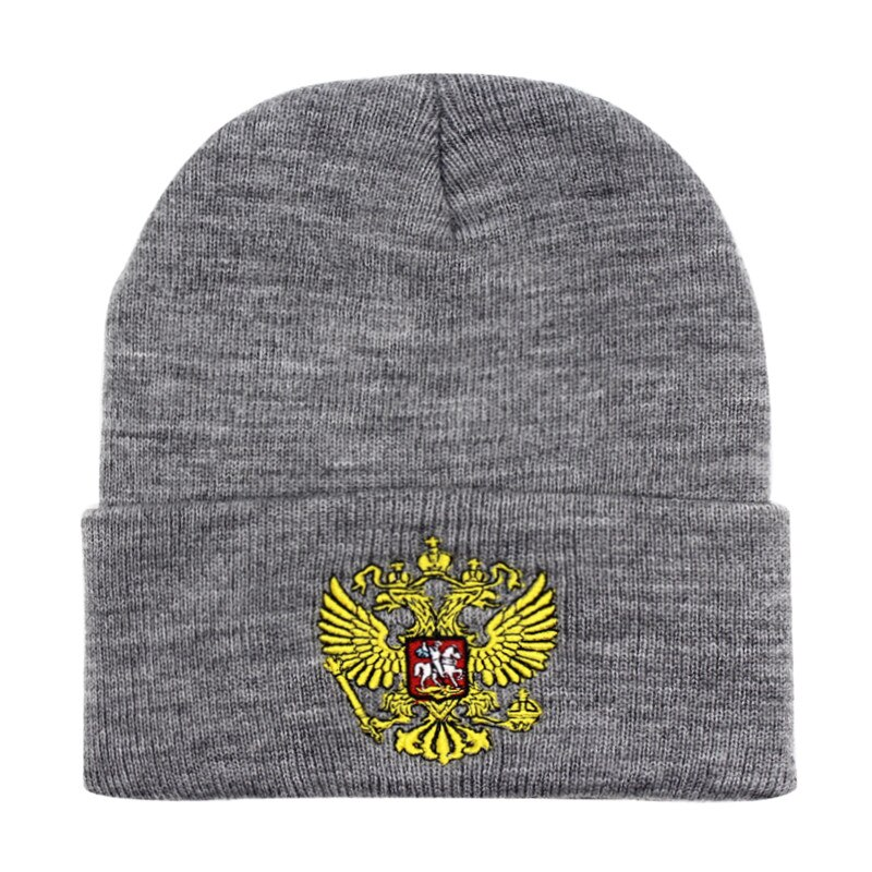 a3b1b695b12d38 Russian Eagle Men Imperial Embroidered Winter Soviet Headed Military ...