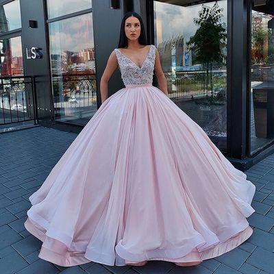31657ce1c00b5 Gorgeous ball gown prom dress deep v neck floor length women formal evening  dresses long party