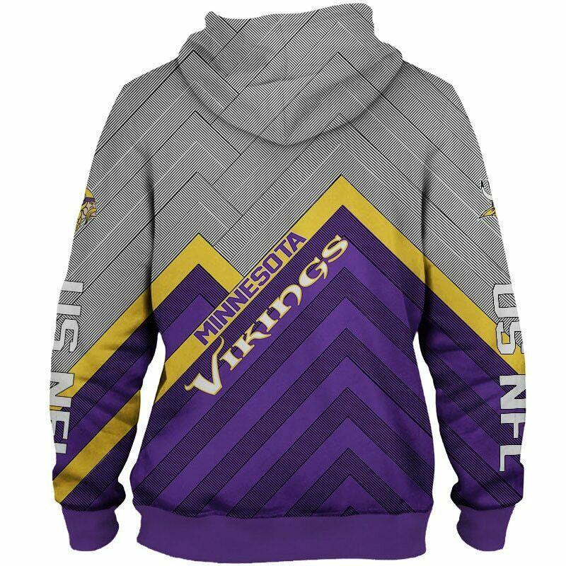 detailed look bfc64 27afd Minnesota Vikings NFL Full Zip Up Hoodie Zipper Sweatshirt Limited Edition  from SportsMegas
