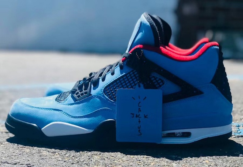 "pretty nice a4cd3 2b418 Nike Air Jordan 4 Retro Travis Scott Cactus Jack ""Houston Oilers"" Shoes  sold by ivicente"
