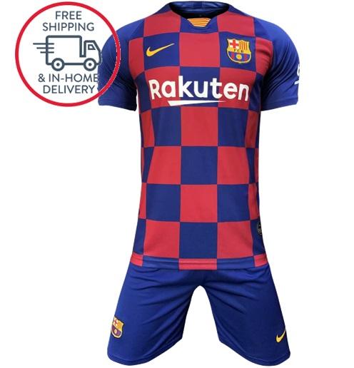 online retailer c355d b1190 Barcelona home KIT 19 20 jersey Kids Soccer shirt Short Red BLue from  isacctex