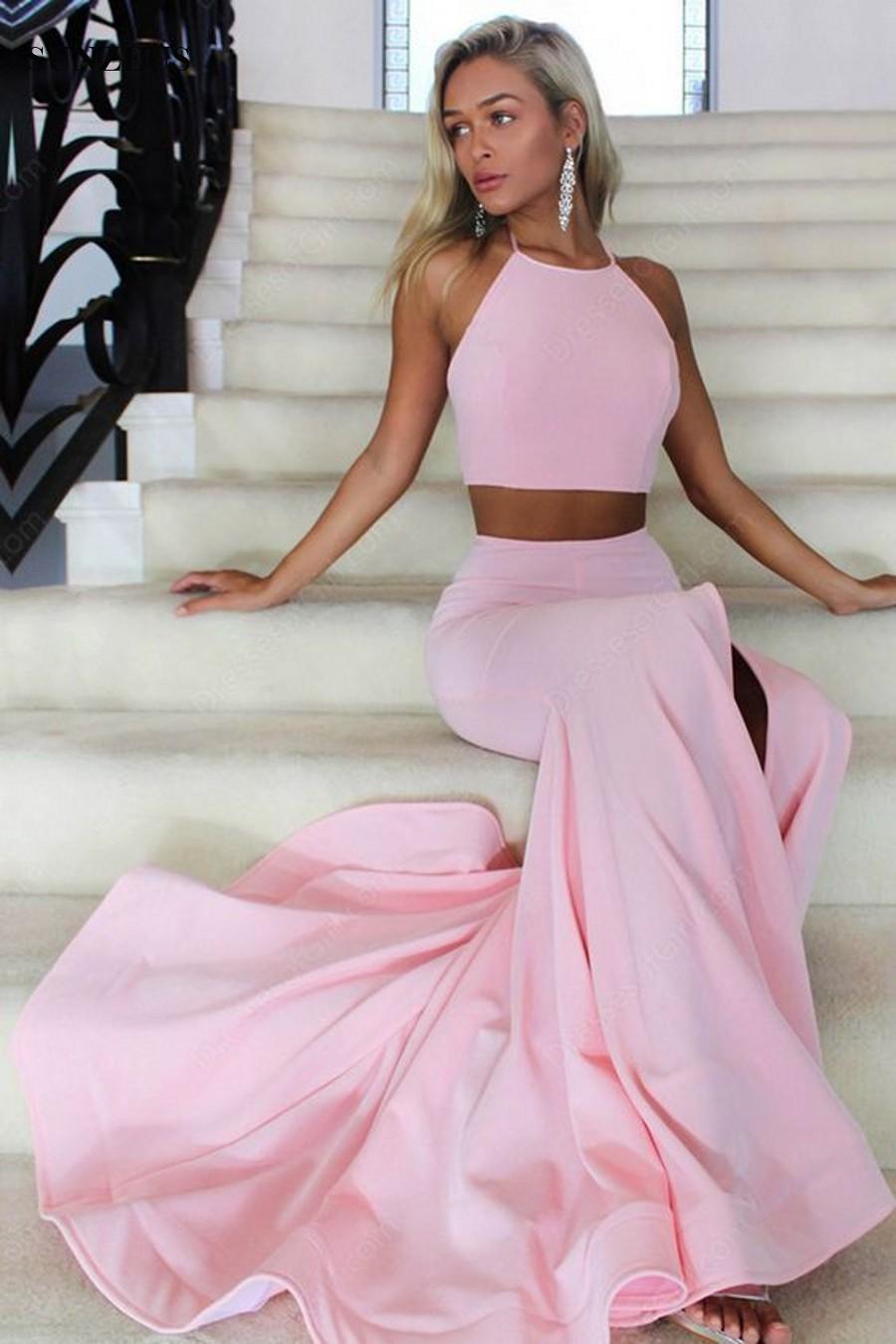 Custom Made Fancy Prom Dress Two Piece, Mermaid Evening ...