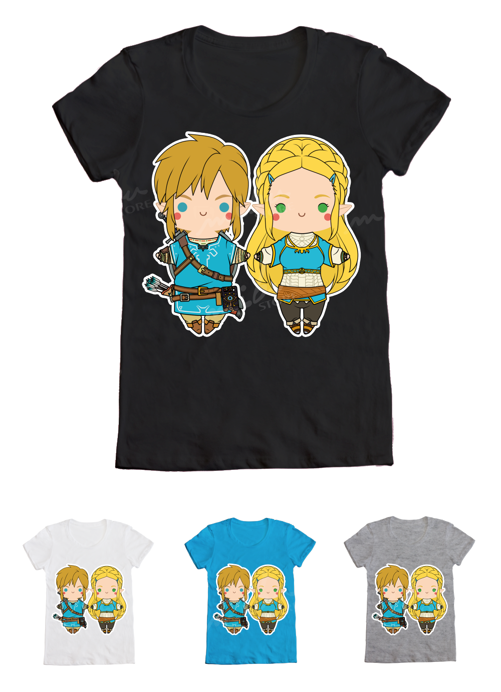 Botw Link Zelda Long Hair Ver T Shirt Sold By Mibustore
