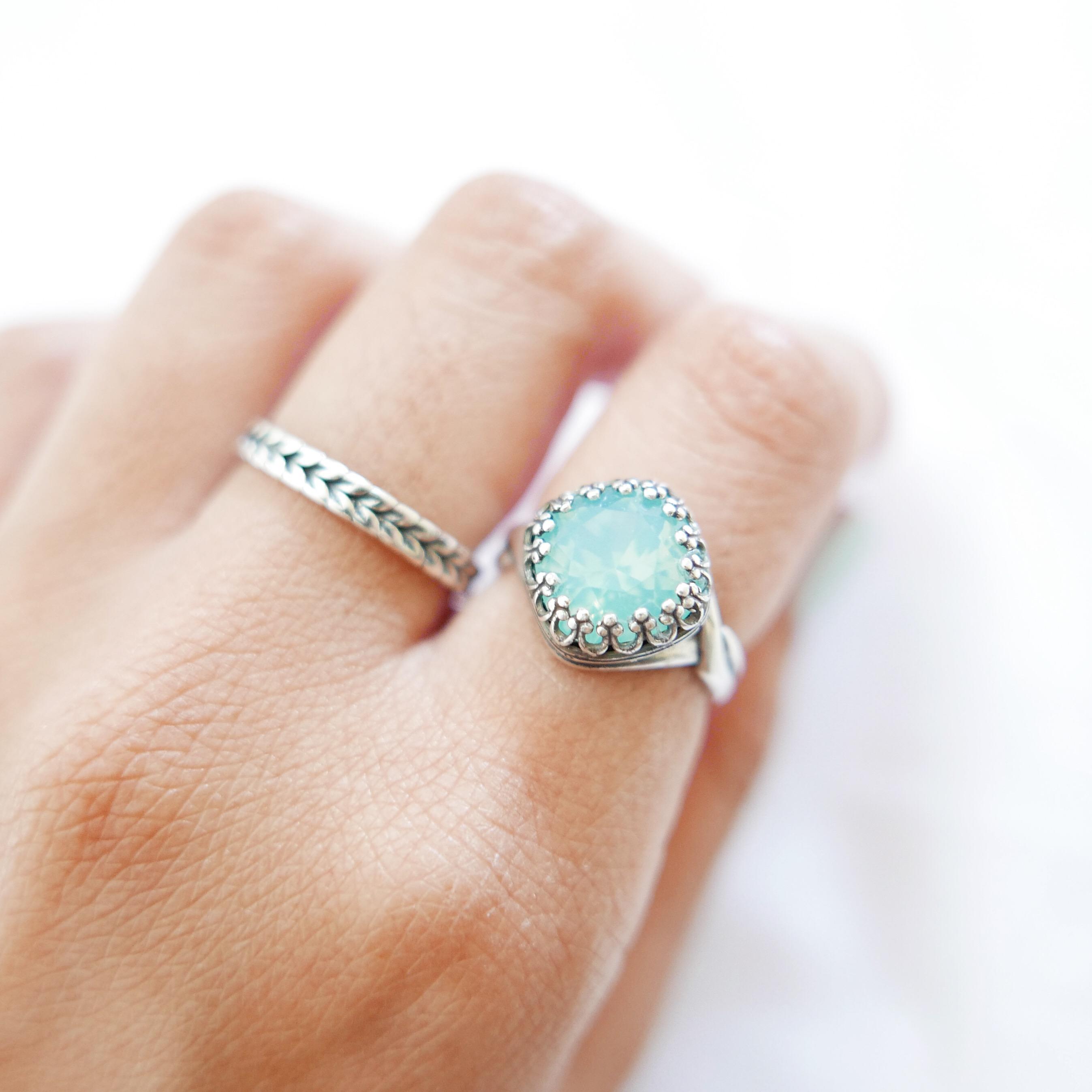 Pacific Opal Swarovski Crystal Crown