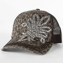 67e6a66c4f52e Envy This Collect. Envy Leopard Fleur de Lis Bling Rhinestone Trucker Hat