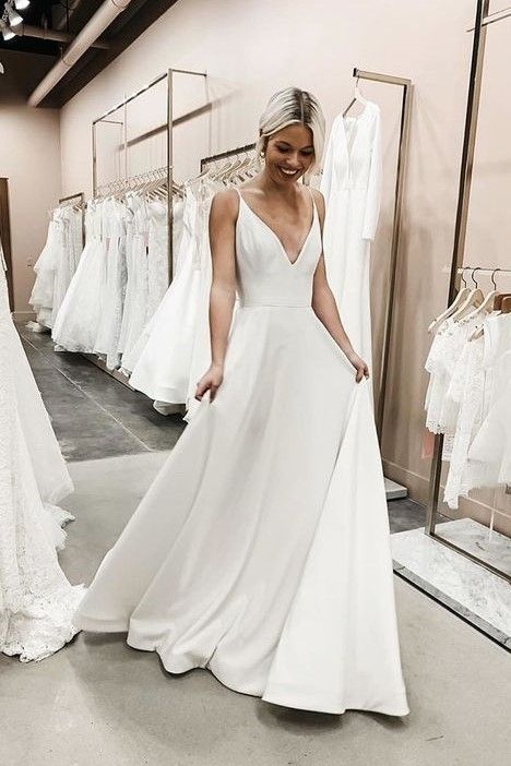 Simple Wedding Dress Sexy Low Back Wedding Dress Sancta Sophia Online Store Powered By Storenvy