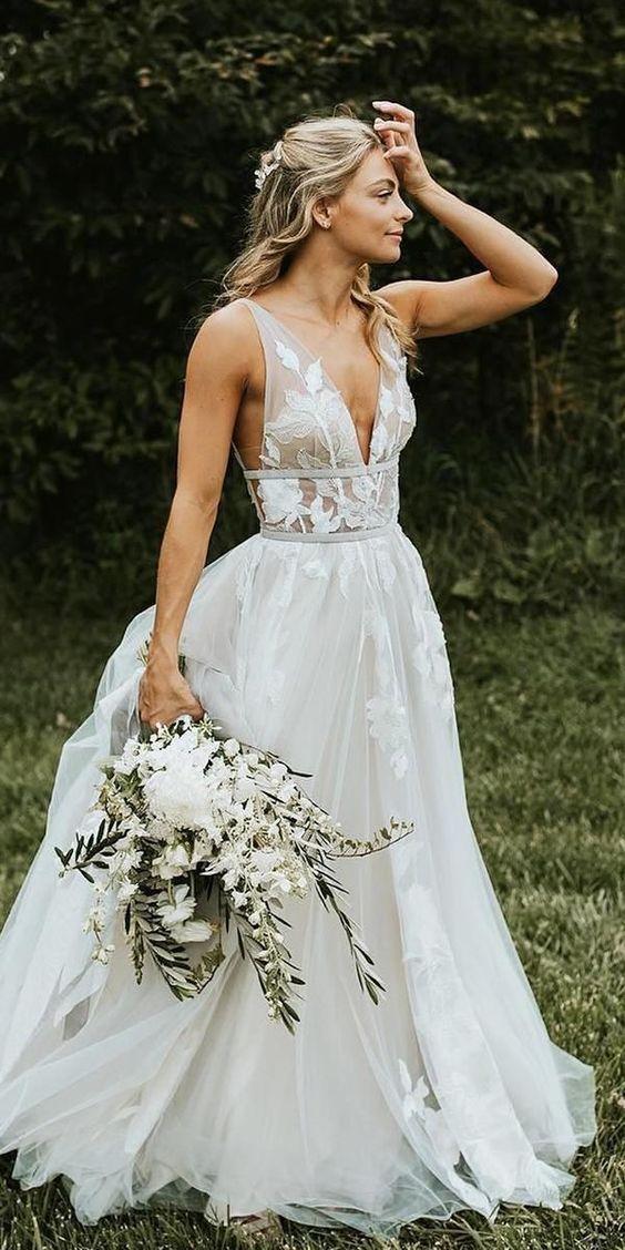 Informal Outdoor Wedding Dress,Bohemian Wedding Dress ...