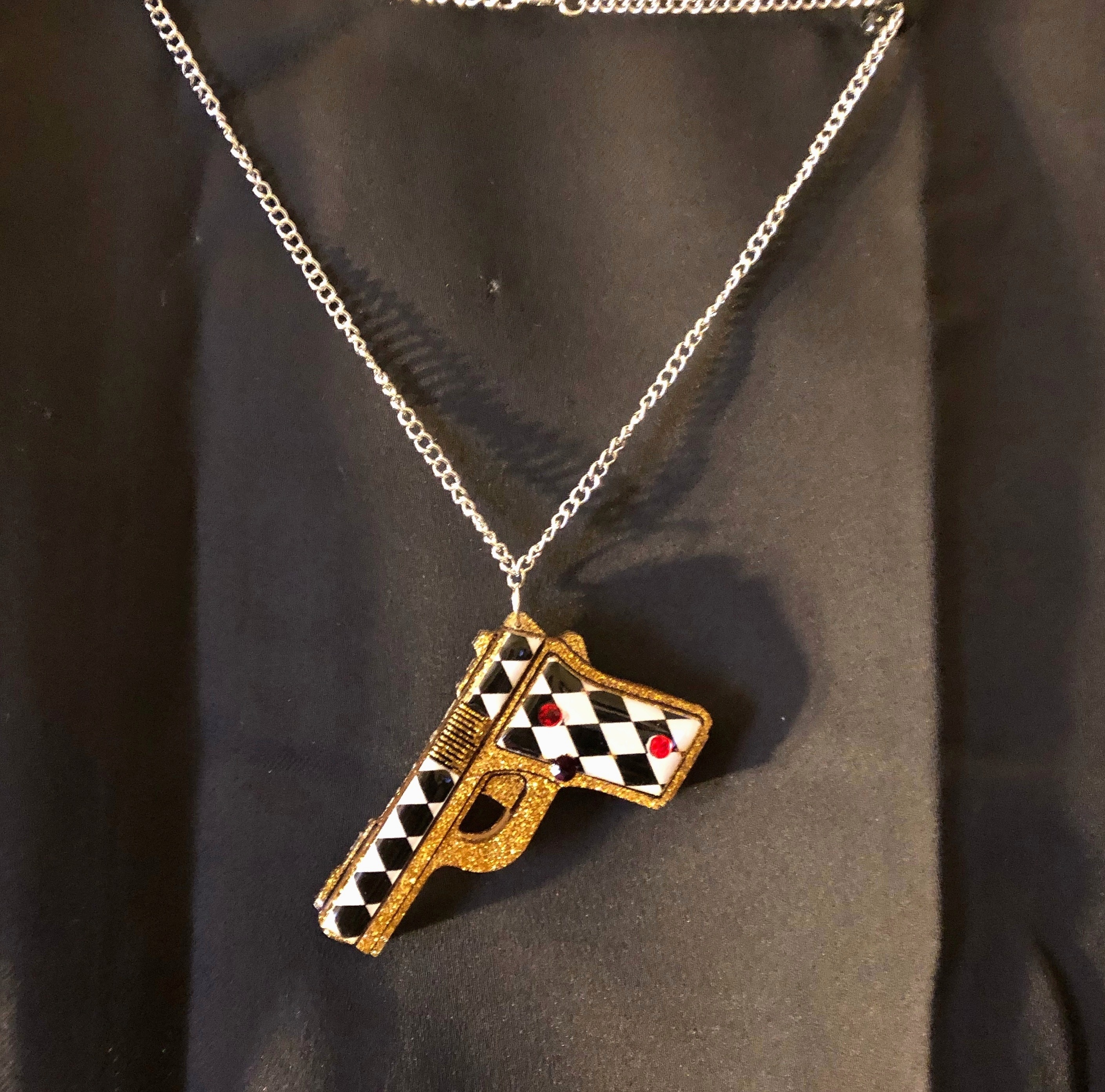 Harley Quinn Birds Of Prey Inspired Pendant Necklace Sold By Damikins Eclectic World On Storenvy