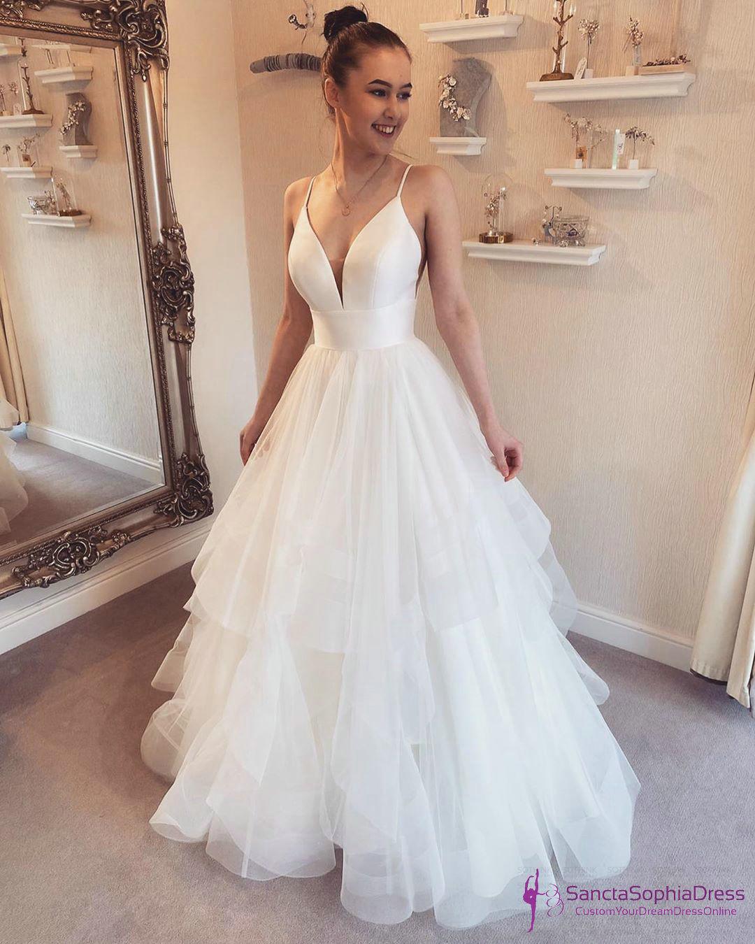 Informal Spaghetti Straps Wedding Dress Designer Wedding Dress Sancta Sophia Online Store Powered By Storenvy