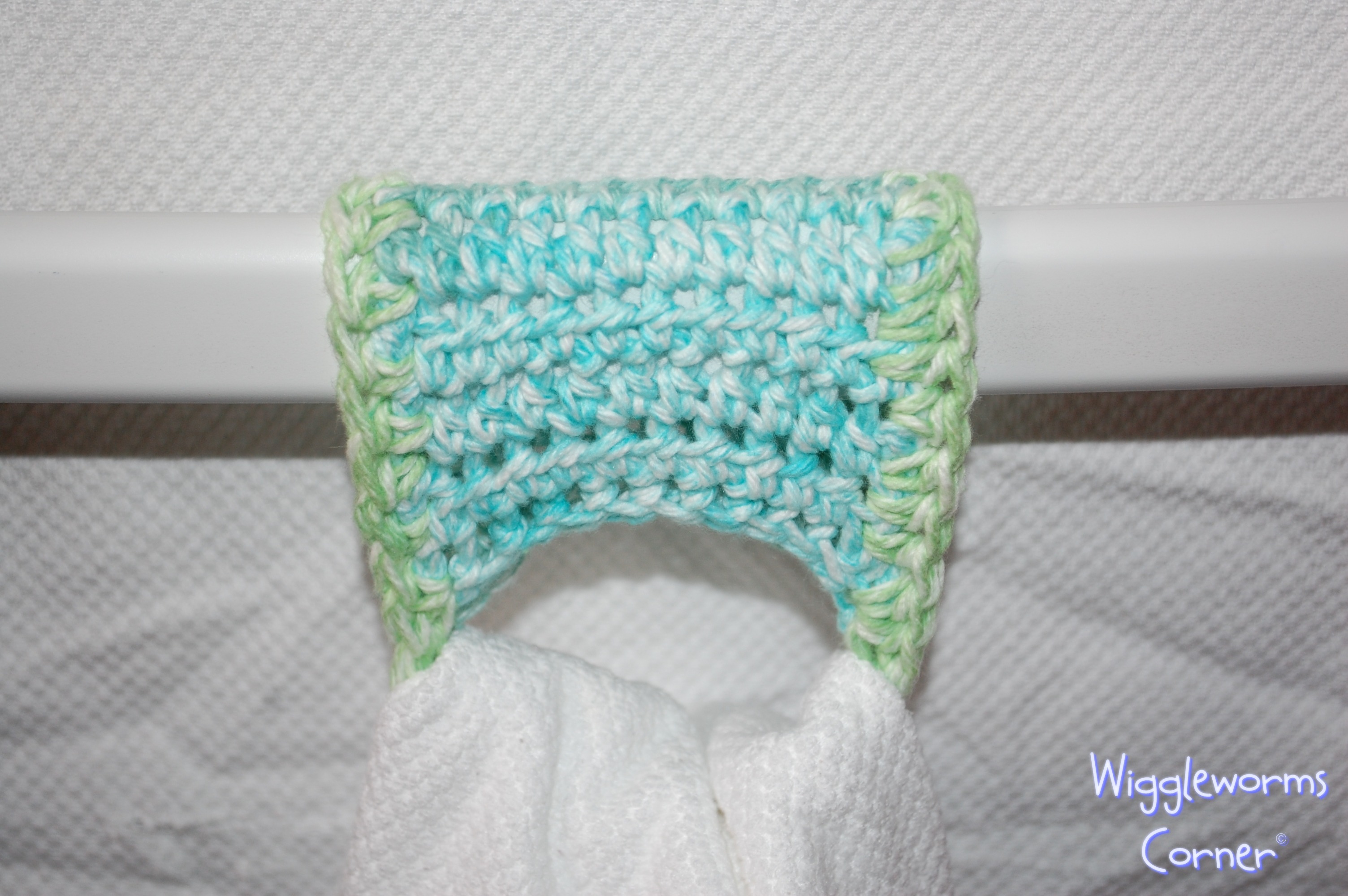 Crocheted Towel holder - Set of two on Storenvy