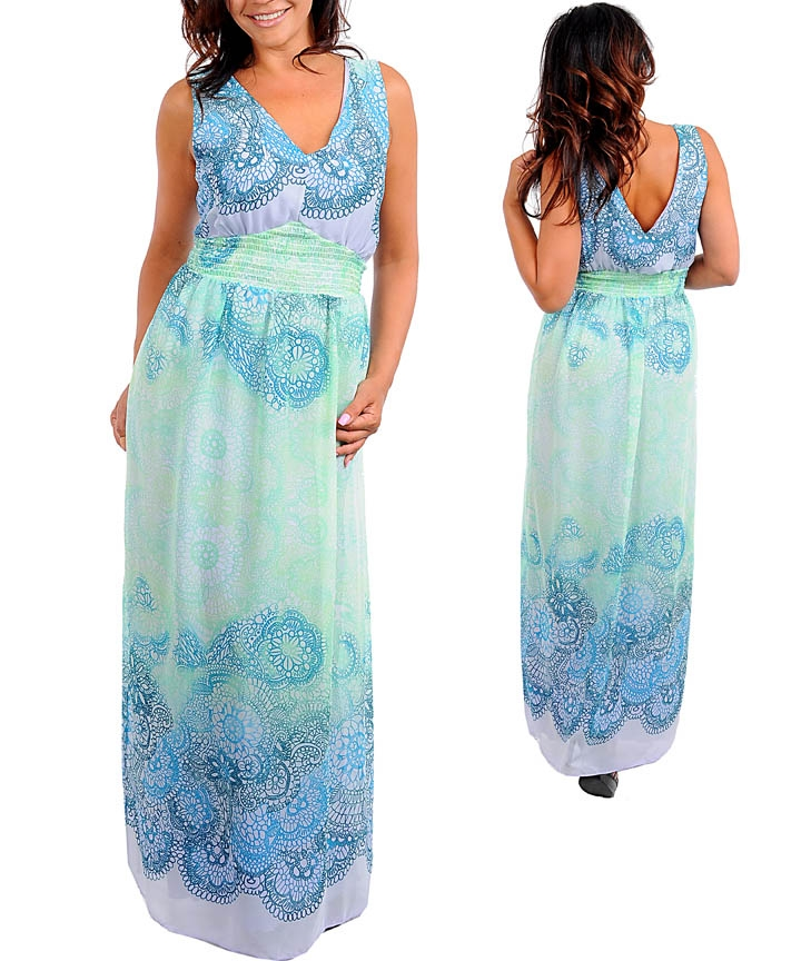 Water Maxi Dress (Plus Size) from TREASURES