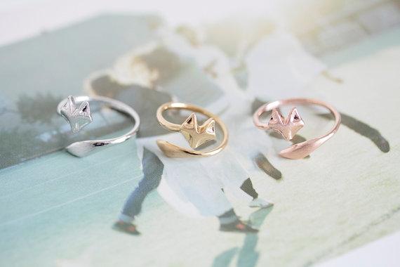 Fox Ring Unique Ring Adjustable Ring Animal Ring Stretch Ring Men