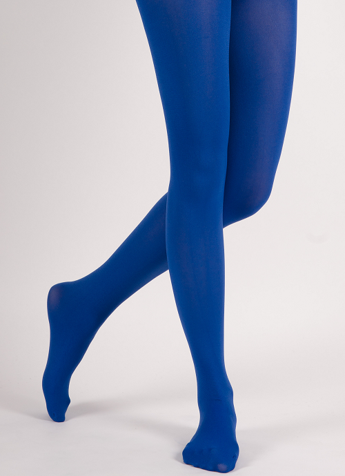 01e22c3a05d ... Extra Full-Coverage Solid Color Soft Opaque Tights - Rich Blue -  Thumbnail 2