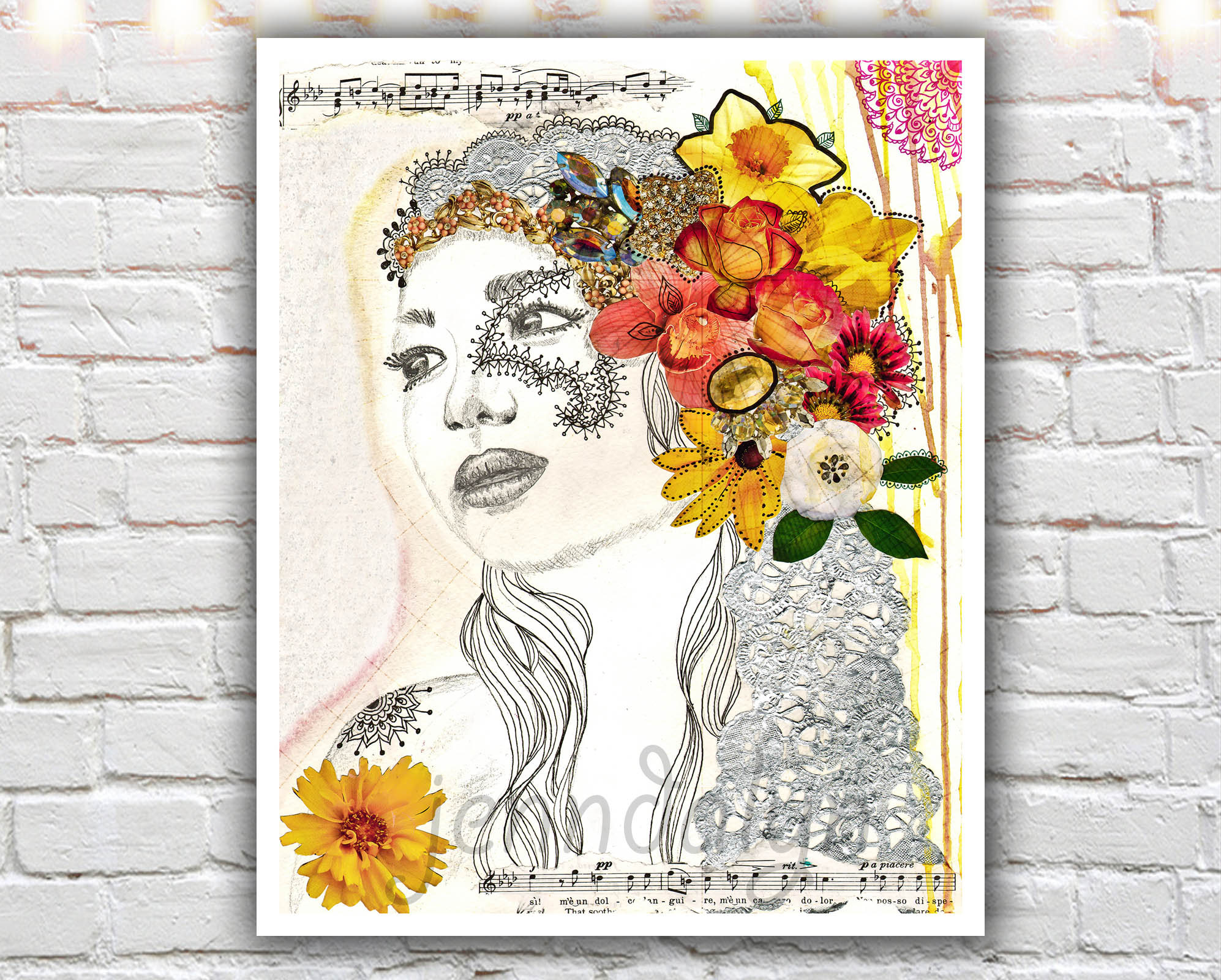 Gypsy Girl 11 X 14 Paper Print Hippie Bohemian Boho Fashion