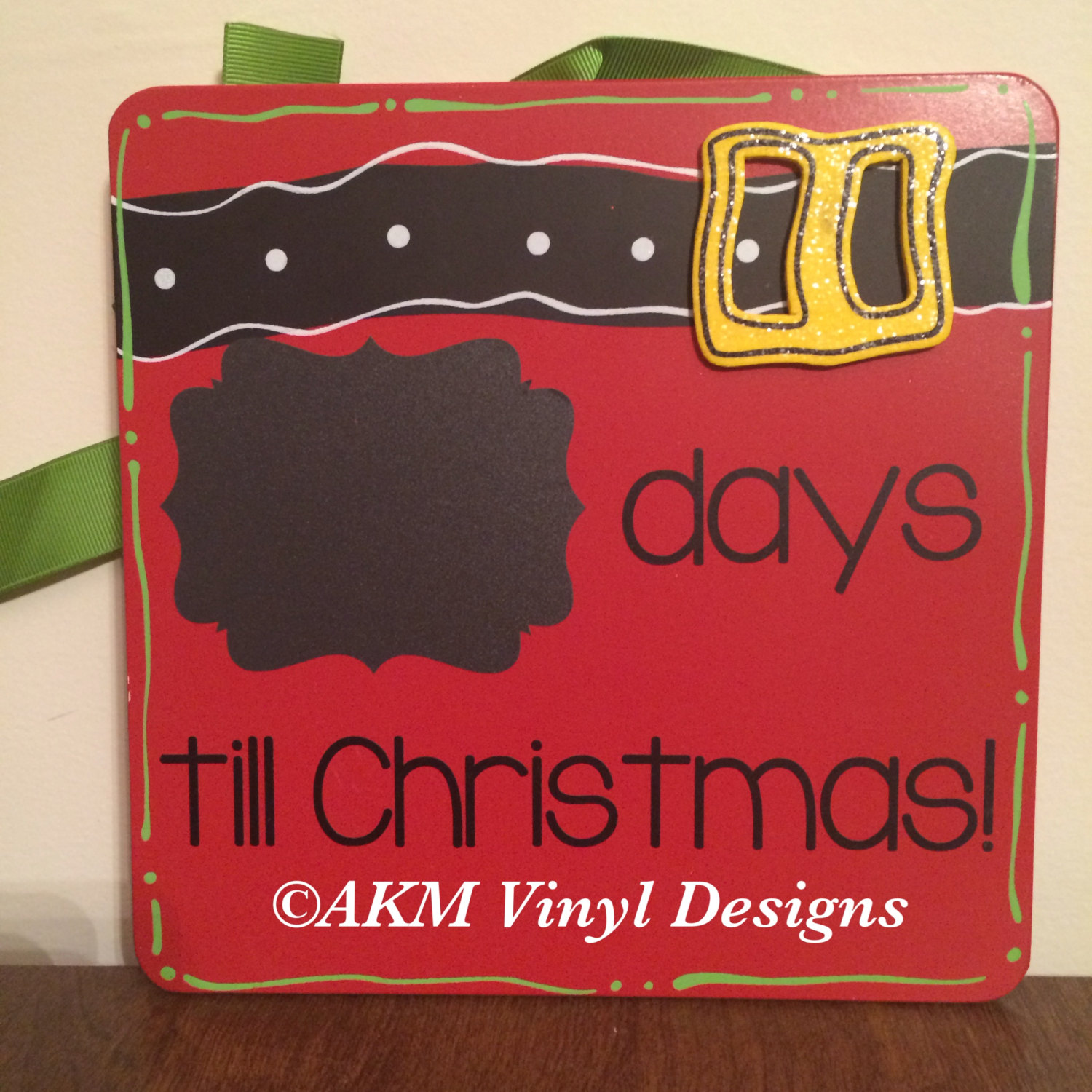 Days Till Christmas Chalkboard.Countdown Till Christmas Chalkboard Hanging Sign